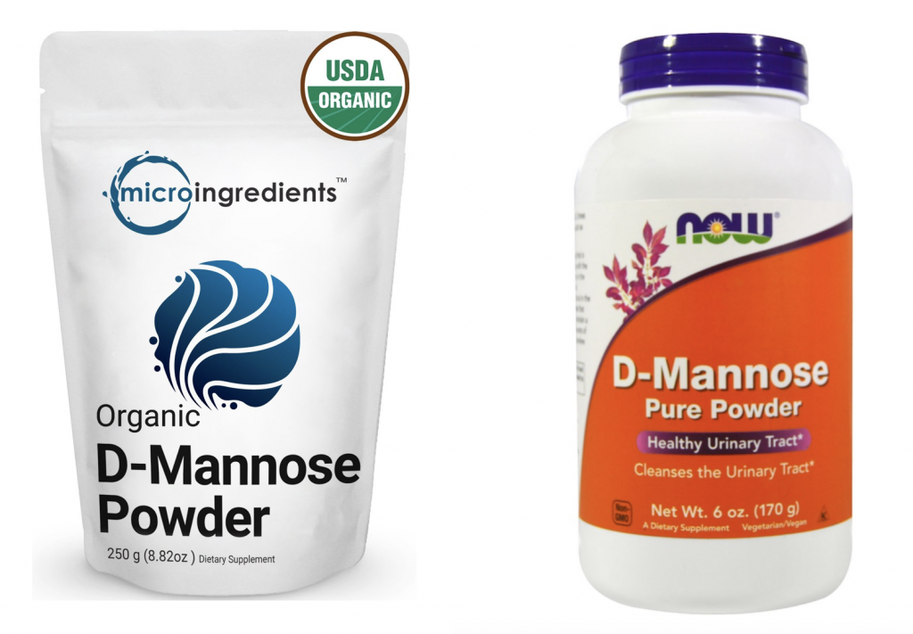 Photo of Now's and Microingredient's D-mannose Powder